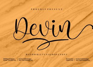 Devin Calligraphy Font