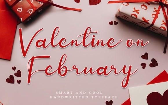 Valentine On February Script Font