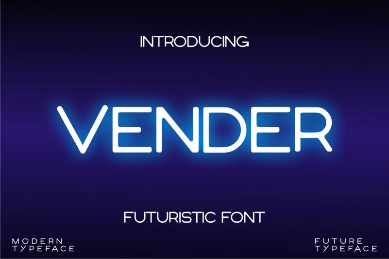 Vender Sans Serif Font