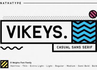 VIKEYS Sans Serif Font