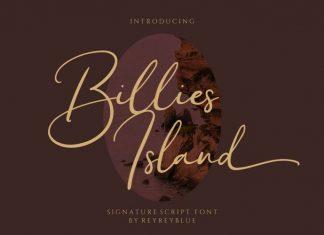 Billies Island Script Font
