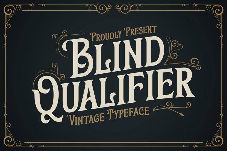 Blind Qualifier Display Font