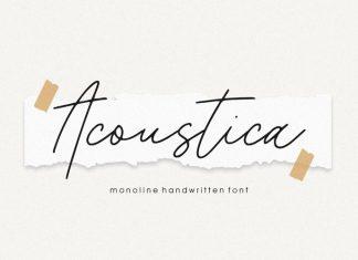 Acoustica Handwritten Font
