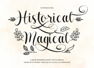 Historical Magical Calligraphy Font