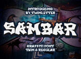 SAMBAR Display Font