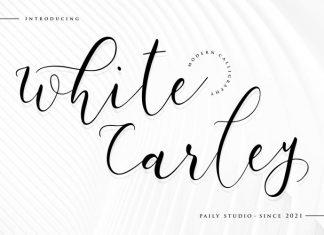 White Carley Script Font
