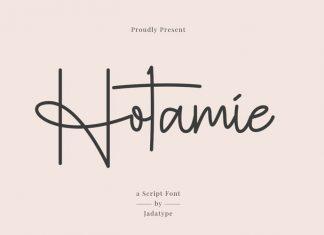 Hotamie Handwritten Font