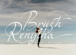 Brush Renytha Script Font