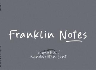 Franklin Notes Handwritten Font