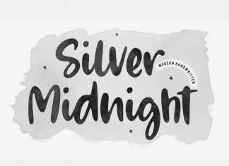 Silver Midnight Script Font