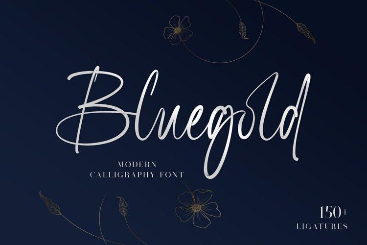 Bluegold Handwritten Font