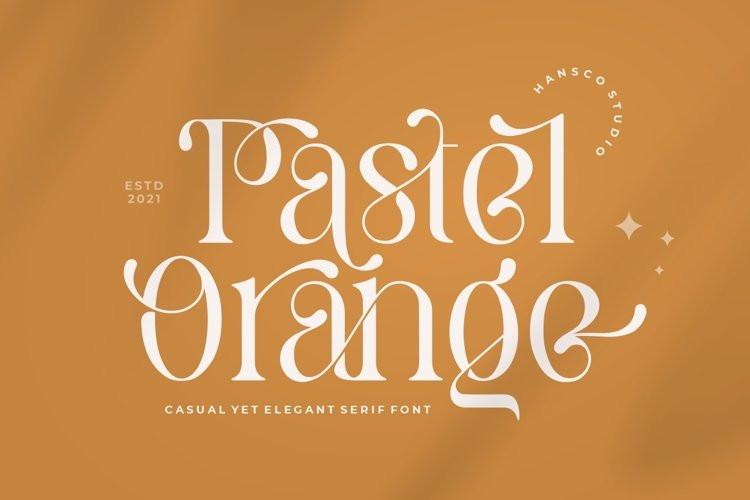 Pastel Orange Serif Font