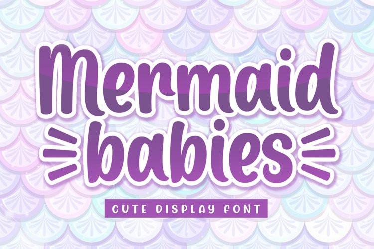 Mermaid Babies Script Font