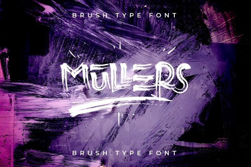 Mullers Brush Font