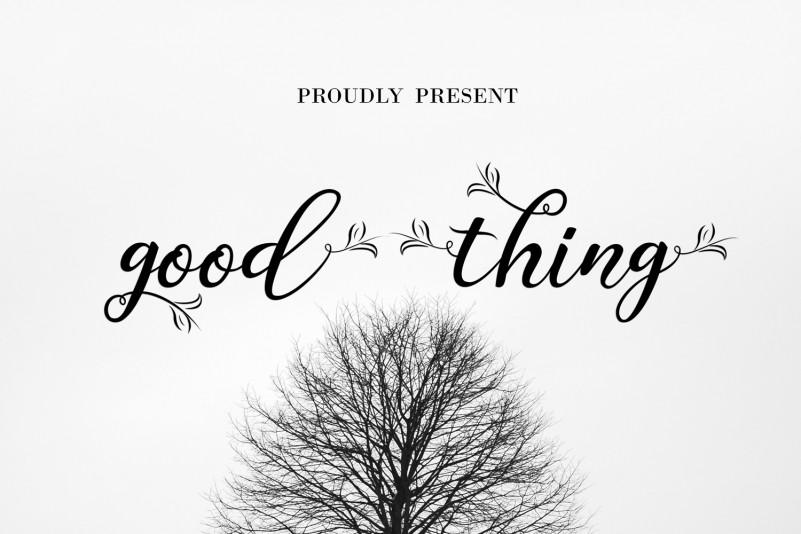 Good Thing Script Font