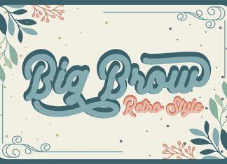 Big Brow Script Font