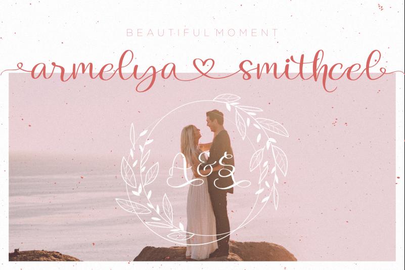 Lovely Melany Script Font