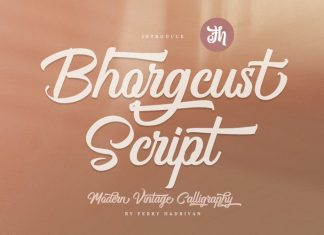 Bhorgcust Script Font