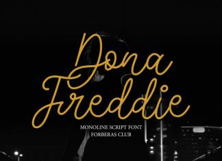 Dona Freddie Handwritten Font