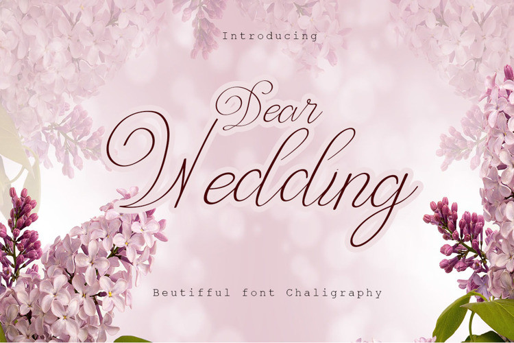 Dear Wedding Script Font