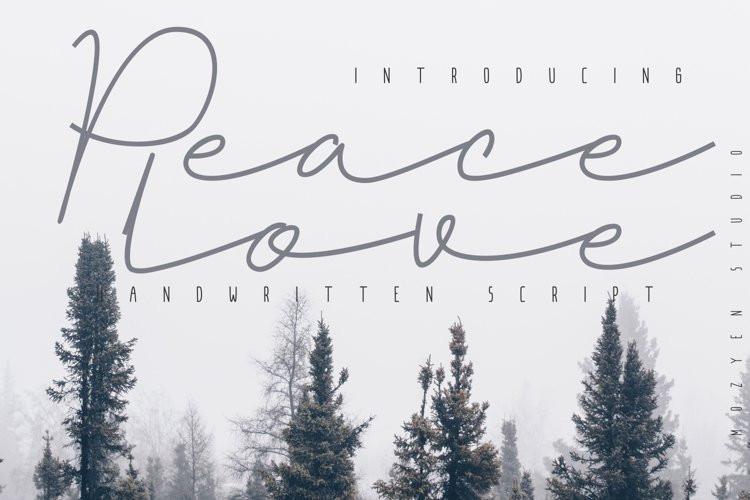 Peacelove Script Font