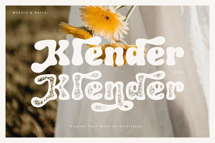 Klender Display Font