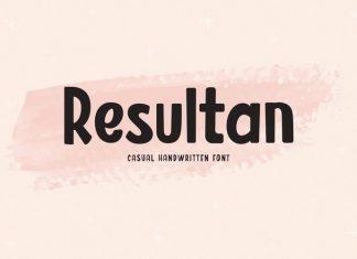 Resultan Display Font