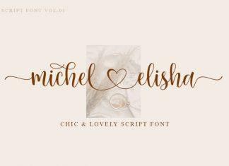 Michel Elisha Calligraphy Font
