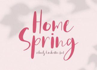Home Spring Script Font