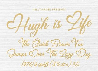 Hugh is Life Script Font