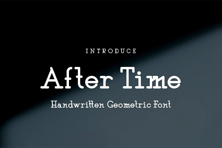 After Time Display Font