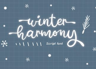 Winter Harmony Script Font