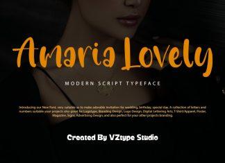 Amaria Lovely Script Font