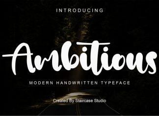 Ambitious Script Font