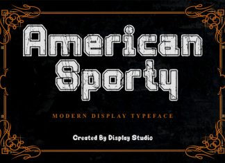 American Sporty Display Font