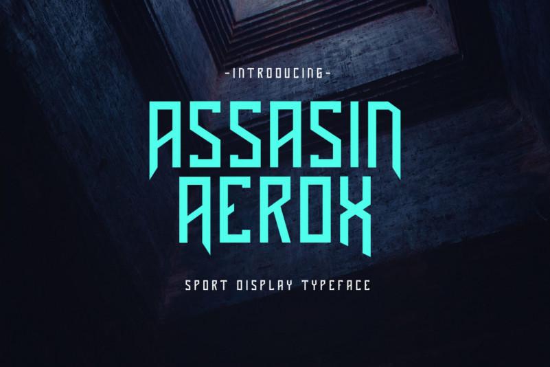 Assasin Aerox Display Font