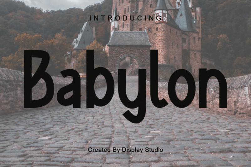 Babylon Display Font
