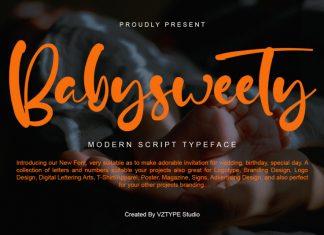 Babysweety Script Font