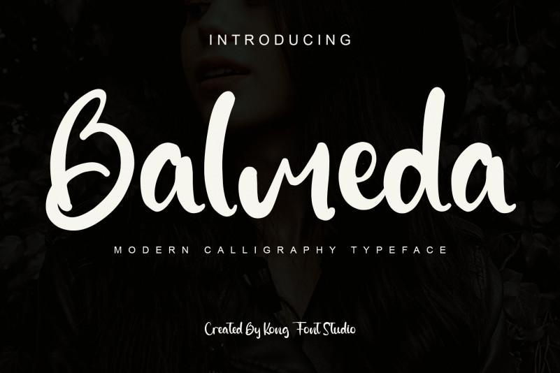 Balmeda Script Font
