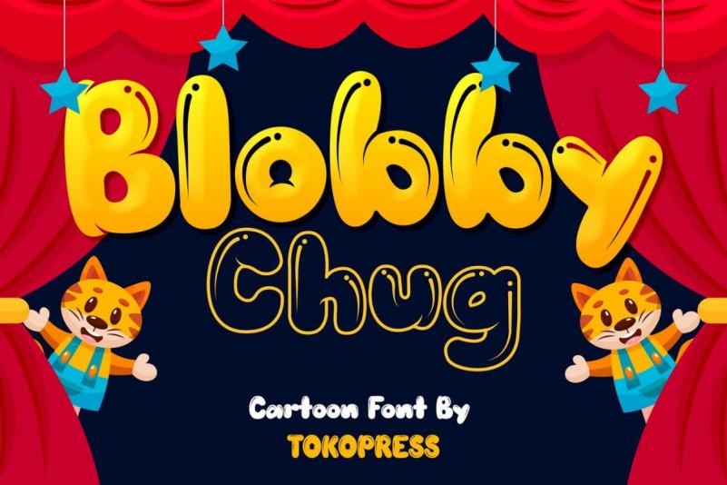 Blobby Chug Display Font