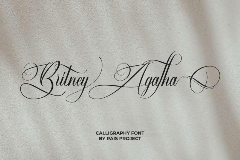 Britney Agatha Calligraphy Font