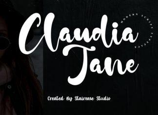 Claudia Jane Script Font