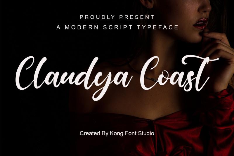 Claudya Coast Script Font