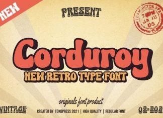 Corduroy Display Font