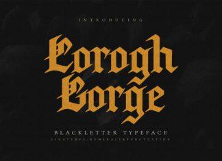 Corogh Gorge Blackletter Font