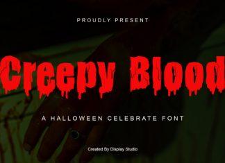 Creepy Blood Display Font
