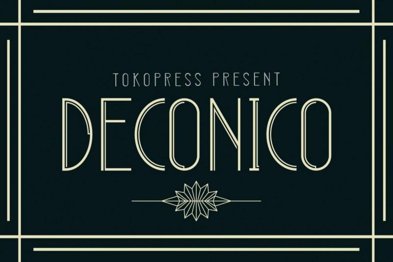 DECONICO Display Font