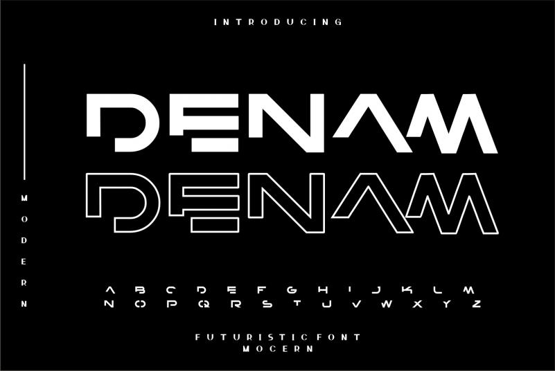 Denam Display Font