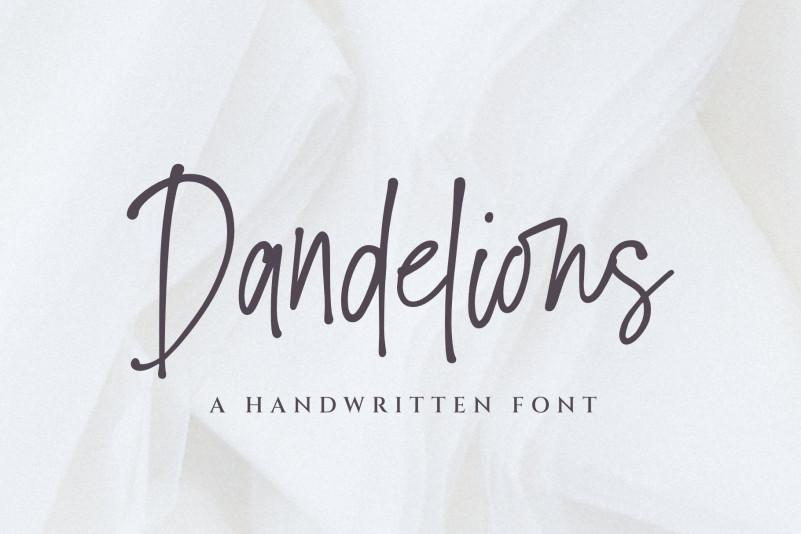 Dandelions Handwritten Font