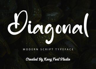 Diagonal Script Font
